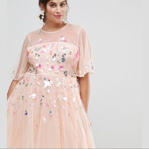 Asos Curve NWOT sequin tulle Dress